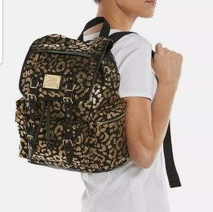 """Juicy Couture """"Lacey"""" Backpack Blk & Metallic Gold"""
